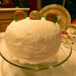 Chocolate Gingerbread Christmas Cake
