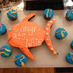 Fish-themed Cake and Cupcakes