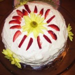 Strawberry Lemon Poppyseed Cake